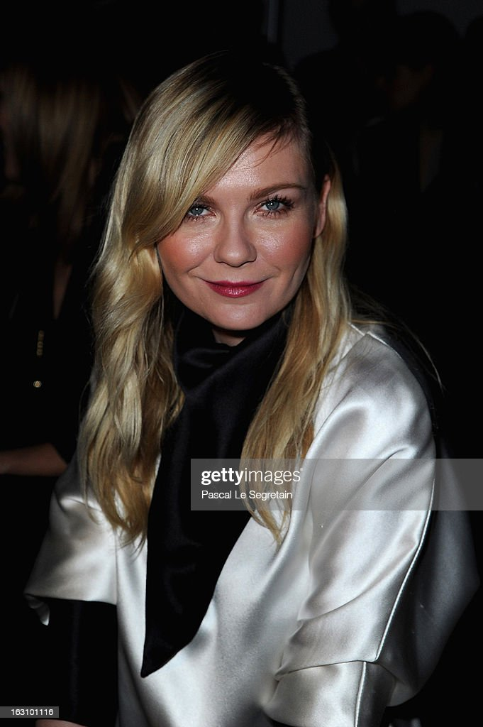 Kirsten Dunst attends the Saint Laurent Fall/Winter 2013 Ready-to-Wear show as part of Paris Fashion Week on March 4, 2013 in Paris, France.