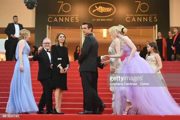 Kirsten Dunst Director of the Cannes Film Festival Thierry Fremaux director Sofia Coppola Colin Farrell Nicole Kidman Elle Fanning and Addison Riecke...