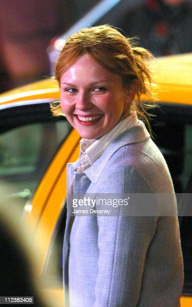 Kirsten Dunst during Filming of 'SpiderMan 2' on Location at Queens in New York City New York United States