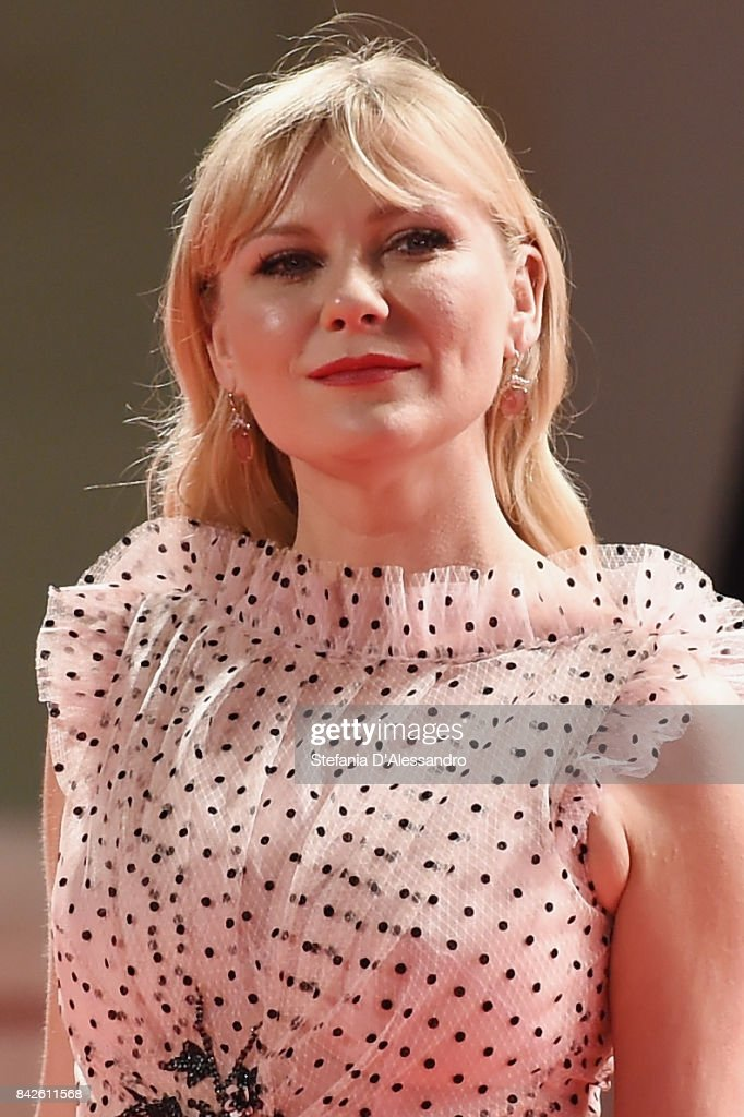 Kirsten Dunst from the movie 'Woodshock' walks the red carpet ahead of the 'Three Billboards Outside Ebbing, Missouri' screening during the 74th Venice Film Festival at Sala Grande on September 4, 2017 in Venice, Italy.