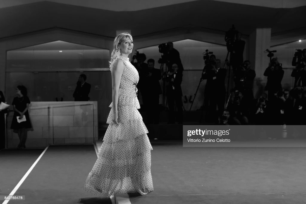 Kirsten Dunst from 'Woodshock' movie walks the red carpet ahead of the 'Three Billboards Outside Ebbing, Missouri' screening during the 74th Venice Film Festival at Sala Grande on September 4, 2017 in Venice, Italy.