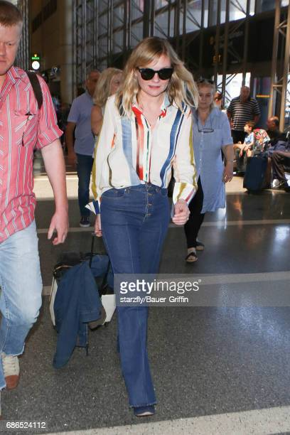 Kirsten Dunst is seen at LAX on May 21 2017 in Los Angeles California