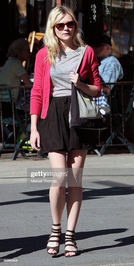 Kirsten Dunst is seen walking in the streets of Manhattan on September 20, 2009 in New York, New York.
