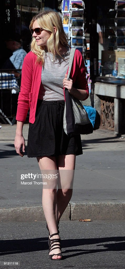 Kirsten Dunst is seen walking in the streets of Manhattan on September 20, 2009 in New York, New York.