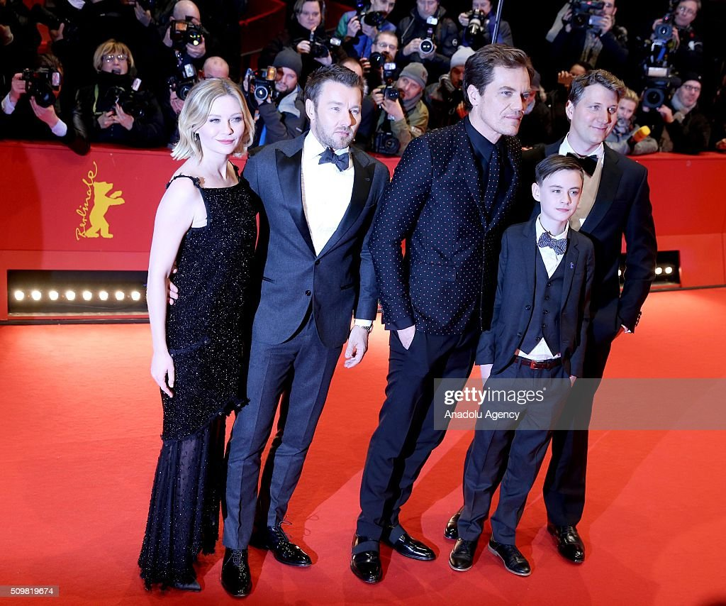 Kirsten Dunst, Joel Edgerton, Michael Shannon, Jaeden Lieberher and Jeff Nichols attend the 'Midnight Special' premiere during the 66th Berlinale International Film Festival Berlin at Berlinale Palace on February 12, 2016 in Berlin, Germany.