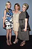 Kirsten Dunst Kate Mara and Lena Dunham attend the 'Miu Miu Women's Tales #8' Premiere during the 71st Venice Film Festival on August 28 2014 in...