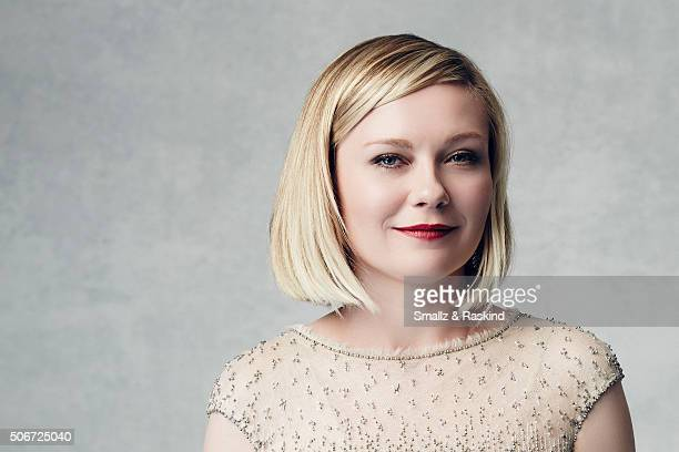 Kirsten Dunst poses for a portrait during the 21st Annual Critics' Choice Awards at Barker Hangar on January 17 2016 in Santa Monica California