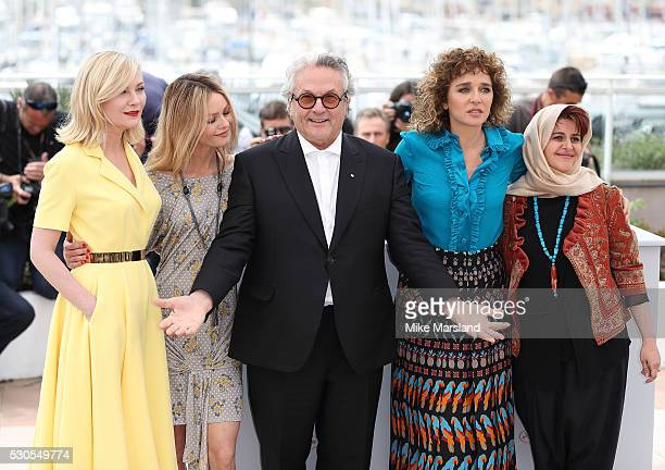 Kirsten Dunst Vanessa Paradis George Miller Valeria Golino and Katayoon Shahabi attend the Jury Photocall during the 69th Annual Cannes Film Festival...