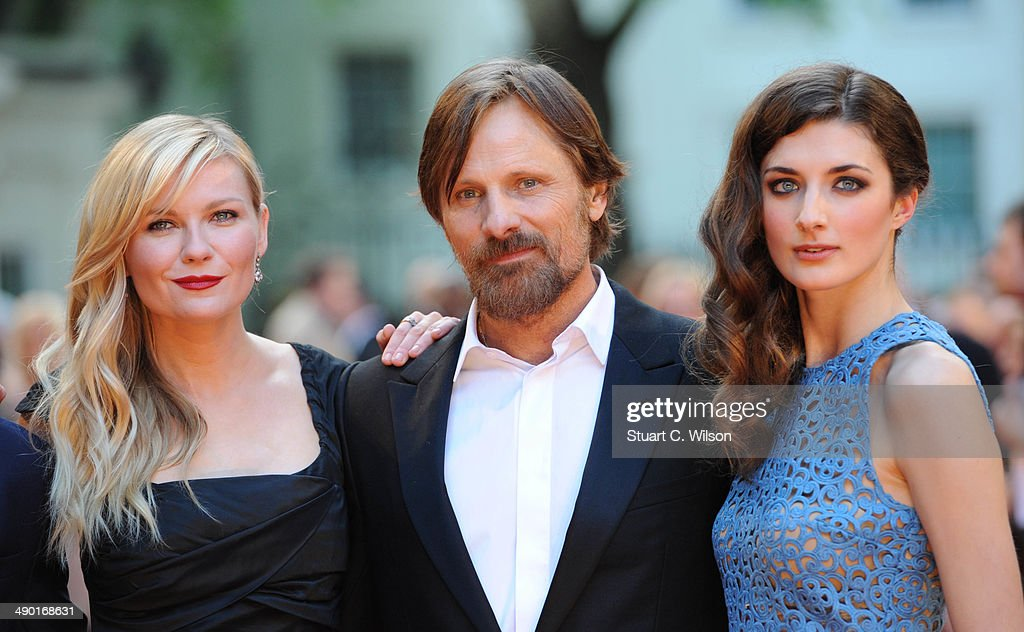 Kirsten Dunst Viggo Mortensen and Daisy Bevan attend the UK Premiere of 'The Two Faces Of January' at The Curzon Mayfair on May 13 2014 in London...