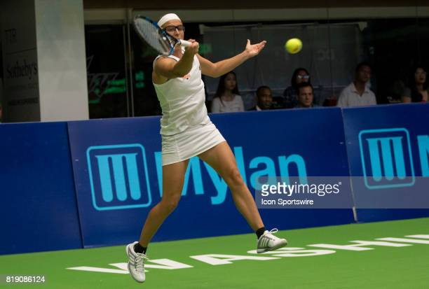Kirsten Flipkens of the New York Empire during a WTT match between the Washington Kastles and the New York Empire on July 18 2017 at the Charles E...