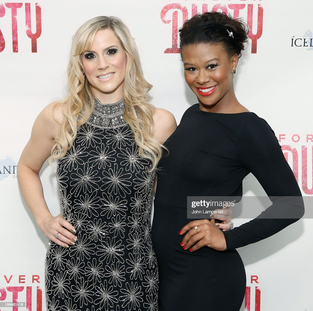 Kirsten Holly Smith and Christina Sajous attend the 'Forever Dusty' Opening Night at New World Stages on November 18, 2012 in New York City.