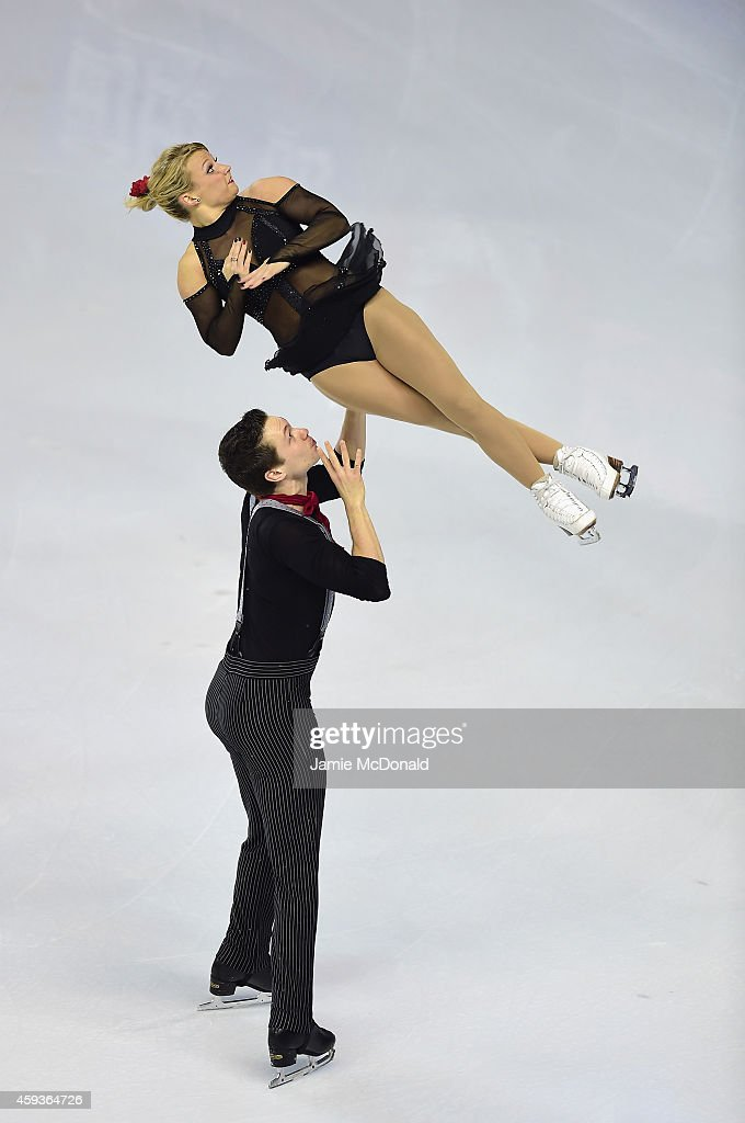 Kirsten Moore Towers and Michael Marinaro of Canada performs their Pairs Short program during day one of Trophee Eric Bompard ISU Grand Prix of Figure Skating at the Meriadeck Ice Rink on November 21, 2014 in Bordeaux, France.