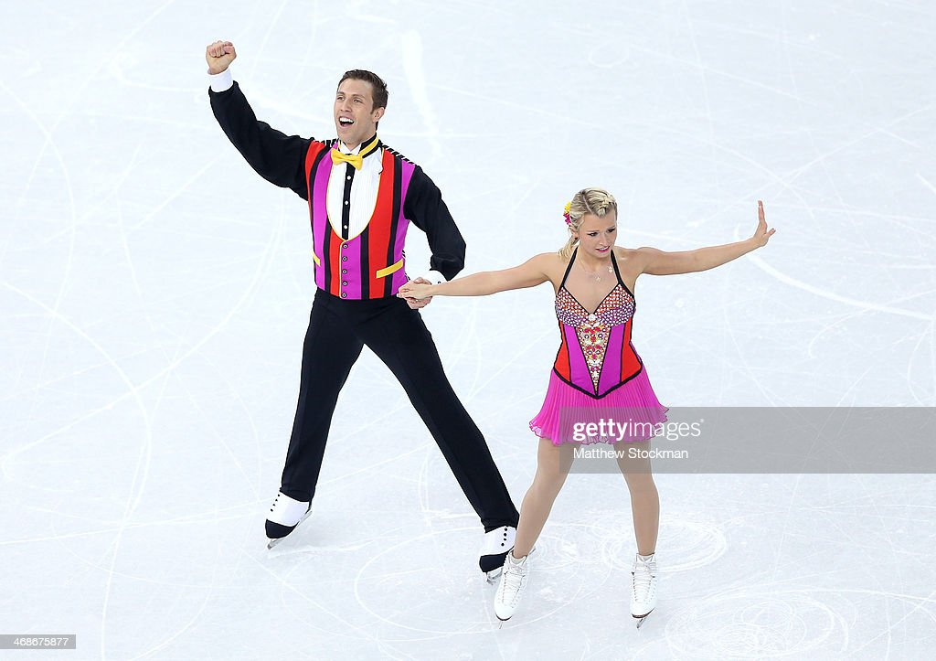 Kirsten Moore-Towers and Dylan Moscovitch of Canada compete during the Figure Skating Pairs Short Program on day four of the Sochi 2014 Winter Olympics at Iceberg Skating Palace on February 11, 2014 in Sochi, Russia.