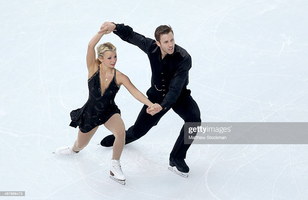 Kirsten Moore-Towers and Dylan Moscovitch of Canada compete in the Figure Skating Team Pairs Free Skating during day one of the Sochi 2014 Winter Olympics at Iceberg Skating Palace on February 8, 2014 in Sochi, Russia.