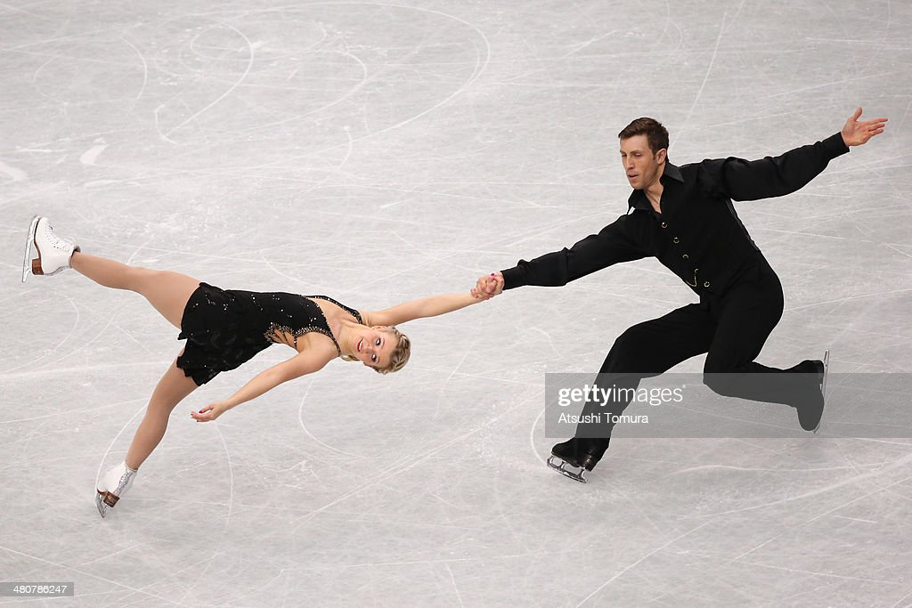 Kirsten Moore-Towers and Dylan Moscovitch of Canada compete in the Pairs Free Program during ISU World Figure Skating Championships at Saitama Super Arena on March 27, 2014 in Saitama, Japan.