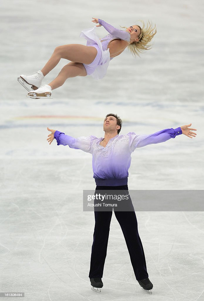 Kirsten Moore-Towers and Dylan Moscovitch of Canada skate in the Pairs Free Skating during day three of the ISU Four Continents Figure Skating Championships at Osaka Municipal Central Gymnasium on February 10, 2013 in Osaka, Japan.