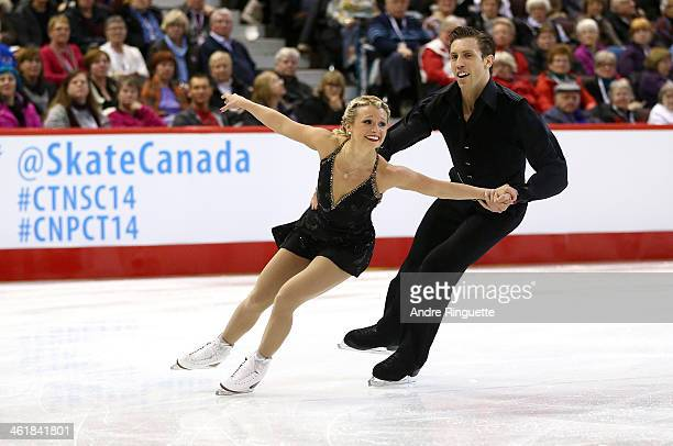 Kirsten MooreTowers and Dylan Moscovitch skate in the Senior Pair Free Program during the 2014 Canadian Tire National Figure Skating Championships at...