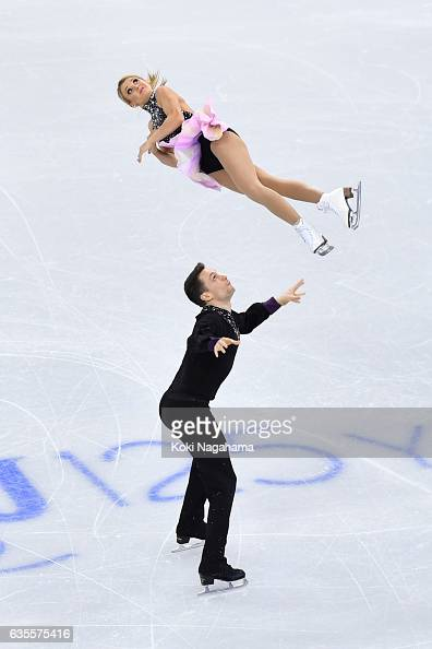 Kirsten MooreTowers and Michael Marinaro of Canada compete in the Pairs Short Program during ISU Four Continents Figure Skating Championships...