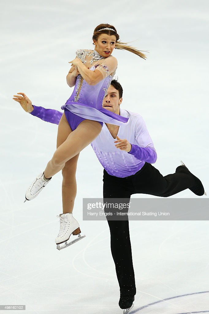 Kirsten Moore-Towers and Michael Marinaro of Canada skate during the Pairs Free Skating on day two of the Rostelecom Cup ISU Grand Prix of Figure Skating 2015 at the Luzhniki Palace of Sports on November 21, 2015 in Moscow, Russia.