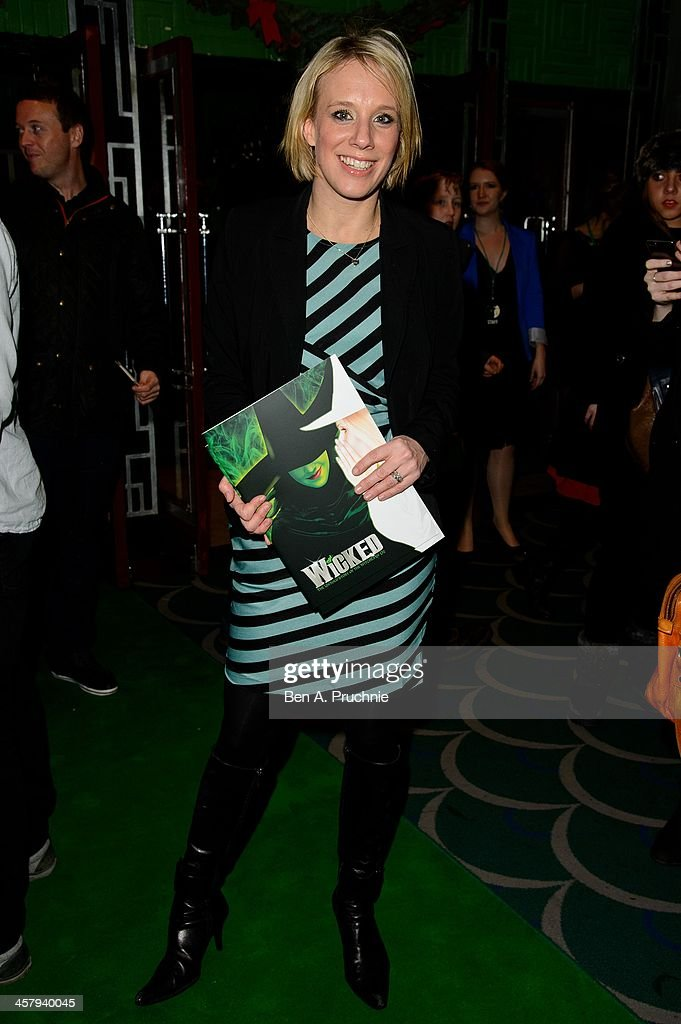 Kirsten O'Brien attends the press night for 'Wicked' at Apollo Victoria Theatre on December 19, 2013 in London, England.