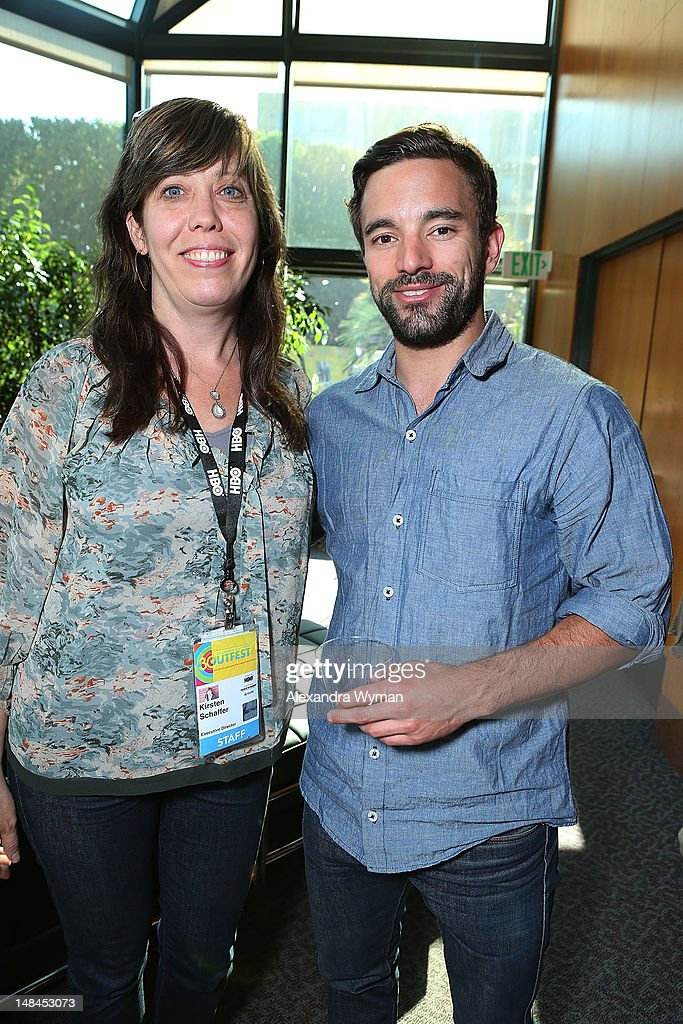 Kirsten Schaffe and Chris Horton at The Sundance Alumni Event At Outfest Festival held at The DGA Theater on July 16, 2012 in Los Angeles, California.