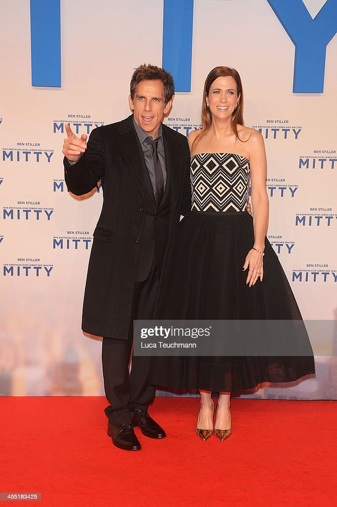 Kirsten Wiig and <a gi-track='captionPersonalityLinkClicked' href=/galleries/search?phrase=Ben+Stiller&family=editorial&specificpeople=201806 ng-click='$event.stopPropagation()'>Ben Stiller</a> attends the German premiere of the film 'The Secret Life Of Walter Mitty' (Das erstaunliche Leben des Walter Mitty) at Zoo Palast on December 11, 2013 in Berlin, Germany.