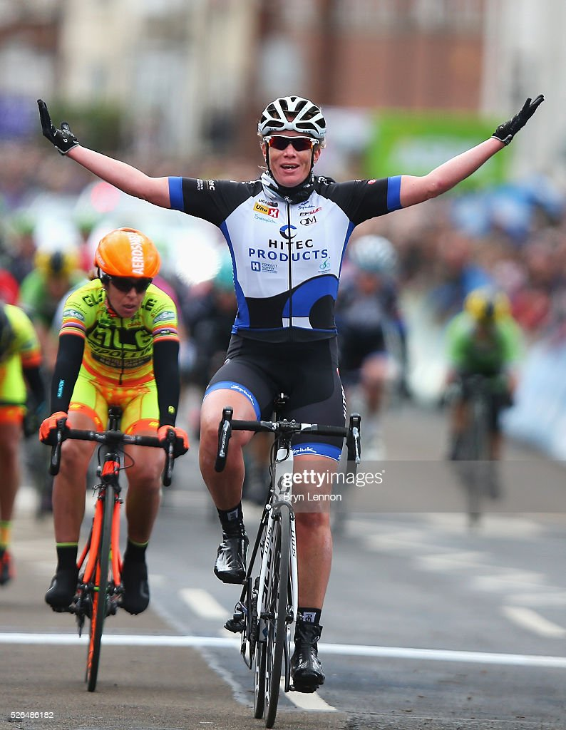 <a gi-track='captionPersonalityLinkClicked' href=/galleries/search?phrase=Kirsten+Wild&family=editorial&specificpeople=5701453 ng-click='$event.stopPropagation()'>Kirsten Wild</a> of Team Hitec Products and the Netherlands wins the women's race in the second stage of the 2016 Tour de Yorkshire between Otley and Doncaster on April 30, 2016 in Doncaster, England.
