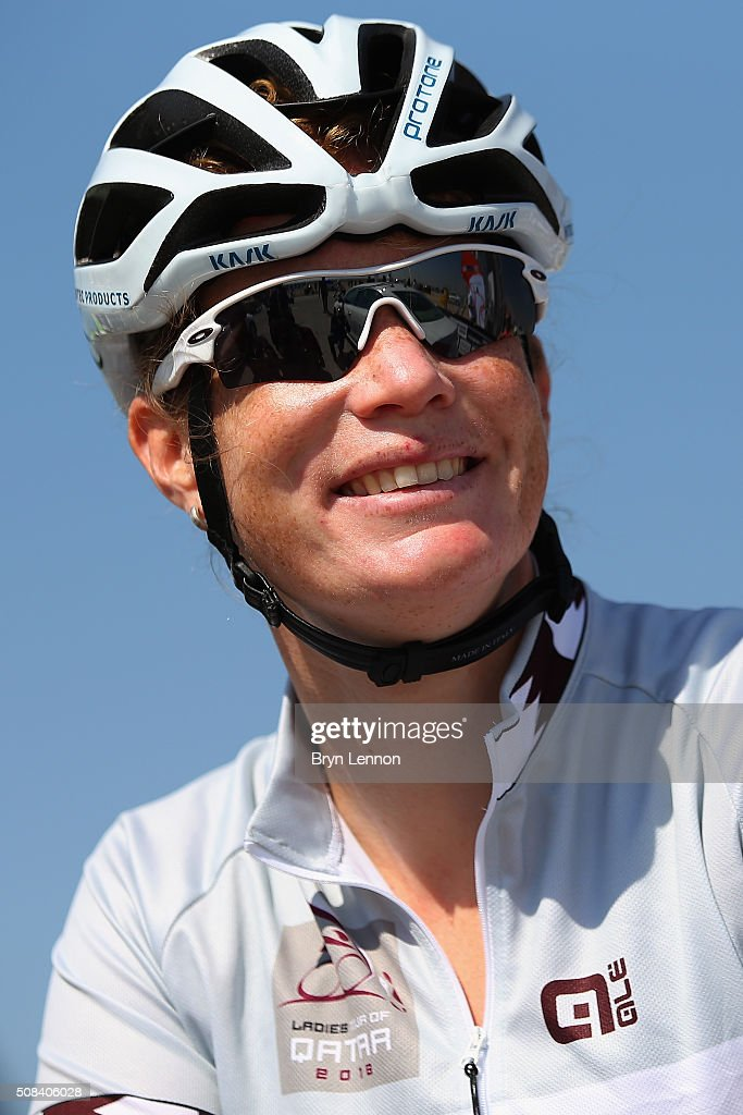<a gi-track='captionPersonalityLinkClicked' href=/galleries/search?phrase=Kirsten+Wild&family=editorial&specificpeople=5701453 ng-click='$event.stopPropagation()'>Kirsten Wild</a> of The Netherlands and Hitec Products looks on at the start of stage 3 of the 2016 Ladies Tour of Qatar from Al Zubarah Fort to Madinat Al Shamal on February 4, 2016 in Al Zubarah Fort, Qatar.