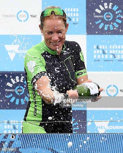 Kirsten WIld of the Netherlands and the Cylance Pro Cycling Team celebrates after winning the Towards Zero Race Melbourne as part of the 2017 Cadel...