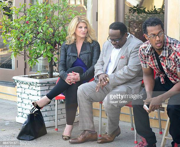 Kirstie Alley and Cedric The Entertainer are seen on January 23 2014 in Los Angeles California