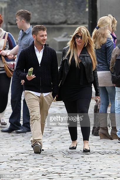 Kirstie Alley and Serge Onik are sighted at the 'Pere Lachaise' cemetery on October 19 2011 in Paris France