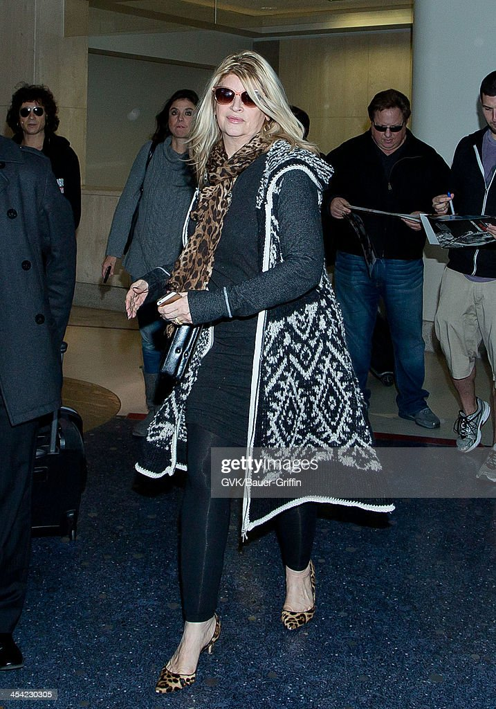 <a gi-track='captionPersonalityLinkClicked' href=/galleries/search?phrase=Kirstie+Alley&family=editorial&specificpeople=206297 ng-click='$event.stopPropagation()'>Kirstie Alley</a> is seen arriving at LAX airport on December 7, 2013 in Los Angeles, California.