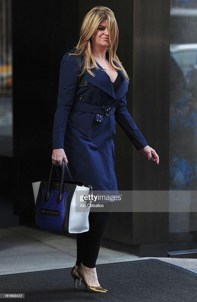 Kirstie Alley is seen on February 12, 2013 in New York City.