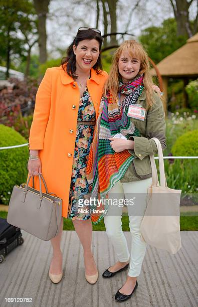 Kirstie Allsopp and Clemmie Hambro attend the Chelsea Flower Show press and VIP preview day at Royal Hospital Chelsea on May 20 2013 in London England