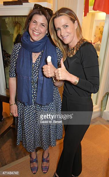 Kirstie Allsopp and India Hicks attend the book launch party for 'India Hicks Island Style' at Ralph Lauren Fulham Road on April 28 2015 in London...