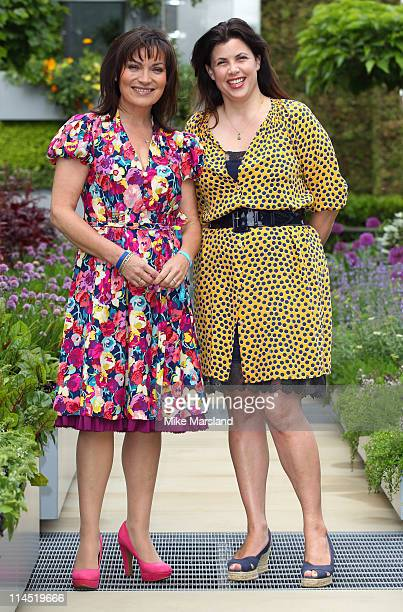 Kirstie Allsopp and Lorraine Kelly during Chelsea Flower Show Press and VIP Day at Royal Hospital Chelsea on May 23 2011 in London England