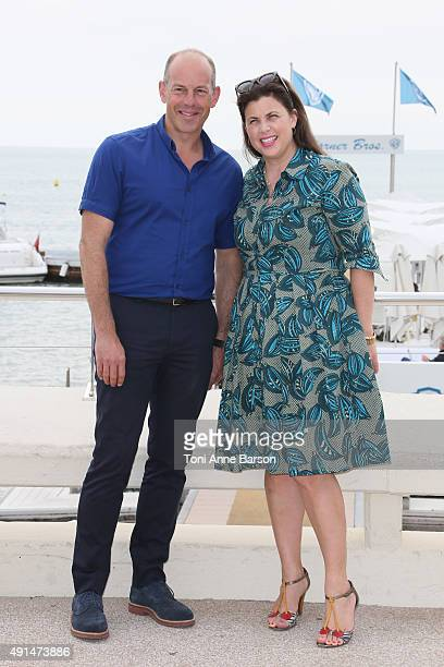 Kirstie Allsopp and Phil Spencer attend 'Love It Or List It UK Photocall as part of MIPCOM 2015 on La Croisette on October 5 2015 in Cannes France
