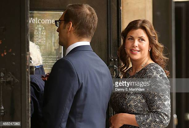 Kirstie Allsopp attends a memorial service for Mark Shand at St Paul's Church on September 11 2014 in London England