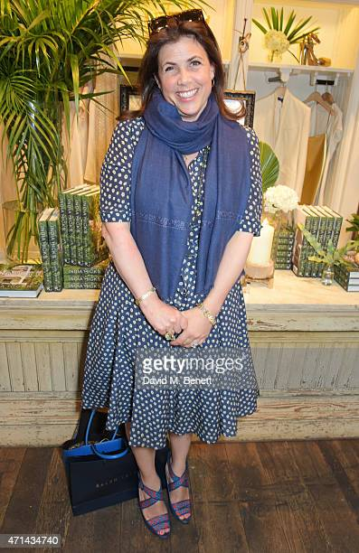 Kirstie Allsopp attends the book launch party for 'India Hicks Island Style' at Ralph Lauren Fulham Road on April 28 2015 in London England