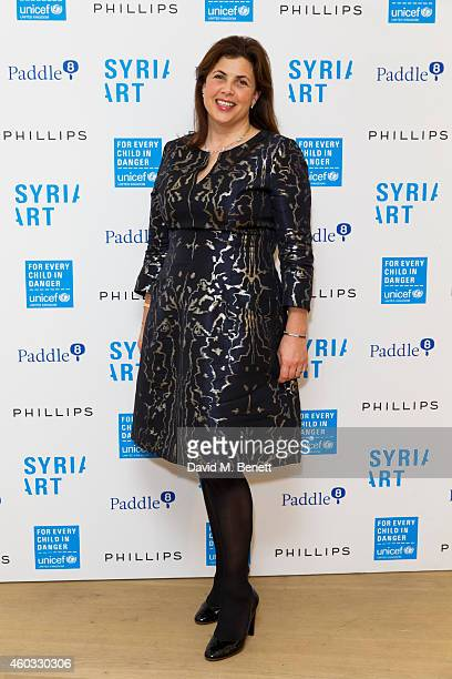Kirstie Allsopp attends Unicef UK's SyriART auction as artworks from leading contemporary artists went under the hammer at Phillips Gallery on...