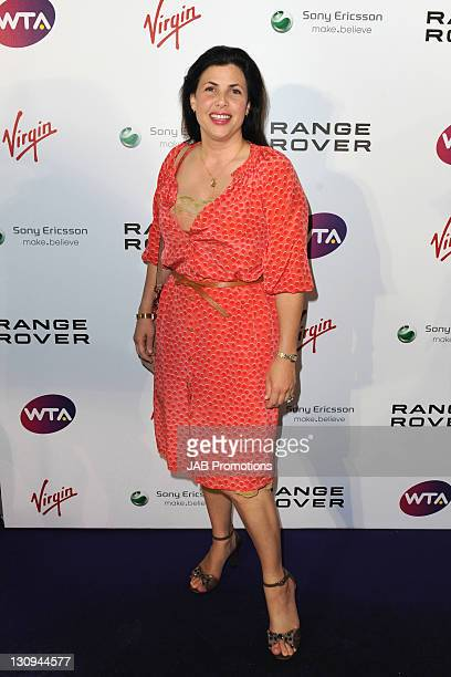 Kirstie Allsopp attends WTA PreWimbledon party in association with Range Rover at Kensington Roof Gardens on June 16 2011 in London England
