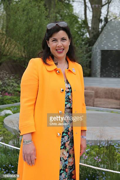 Kirstie Allsopp poses in the BQ Sentebale 'ForgetMeNot' Garden at the Chelsea Flowert Show at the Royal Hospital Chelsea on May 20 2013 in London...