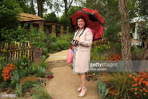 Kirstie Allsopp visits the Sentebale 'Hope In Vunerability' Garden during the annual Chelsea Flower show at Royal Hospital Chelsea on May 18 2015 in...
