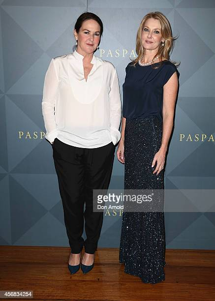 Kirstie Clements and Anna Funder arrive for the 2014 Touchstone by Paspaley Est Restaurant on October 8 2014 in Sydney Australia
