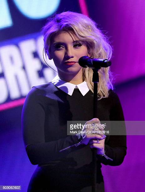 Kirstin Maldonado of Pentatonix performs onstage at Dick Clark's New Year's Rockin' Eve with Ryan Seacrest 2016 on December 31 2015 in Los Angeles CA