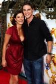 Kirsty Allan and Jay Ryan from the TV show Sea Patrol attends the Australian premiere of 'Fool's Gold' at Movieworld on February 2 2008 on the Gold...
