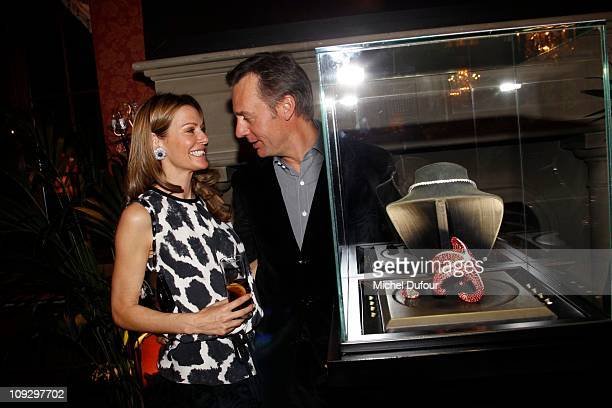 Kirsty Bertarelli and Ernesto Bertarelli attend the De Grisogono Jewellery new collection party on February 17 2011 in Gstaad Switzerland