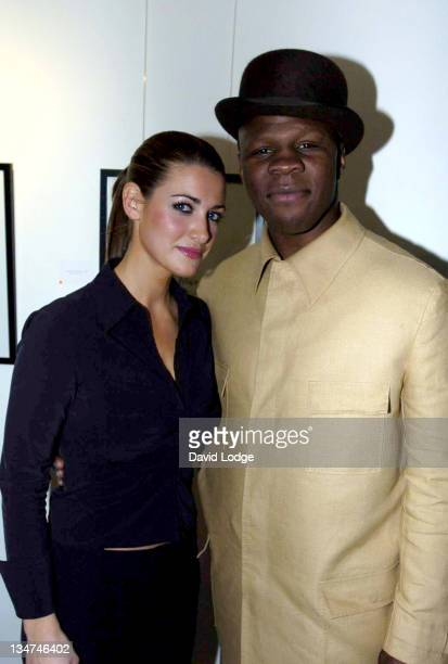 Kirsty Gallacher and Chris Eubank during Celebrity Charity Chocolate Party at Adam Street Members Club in London Great Britain