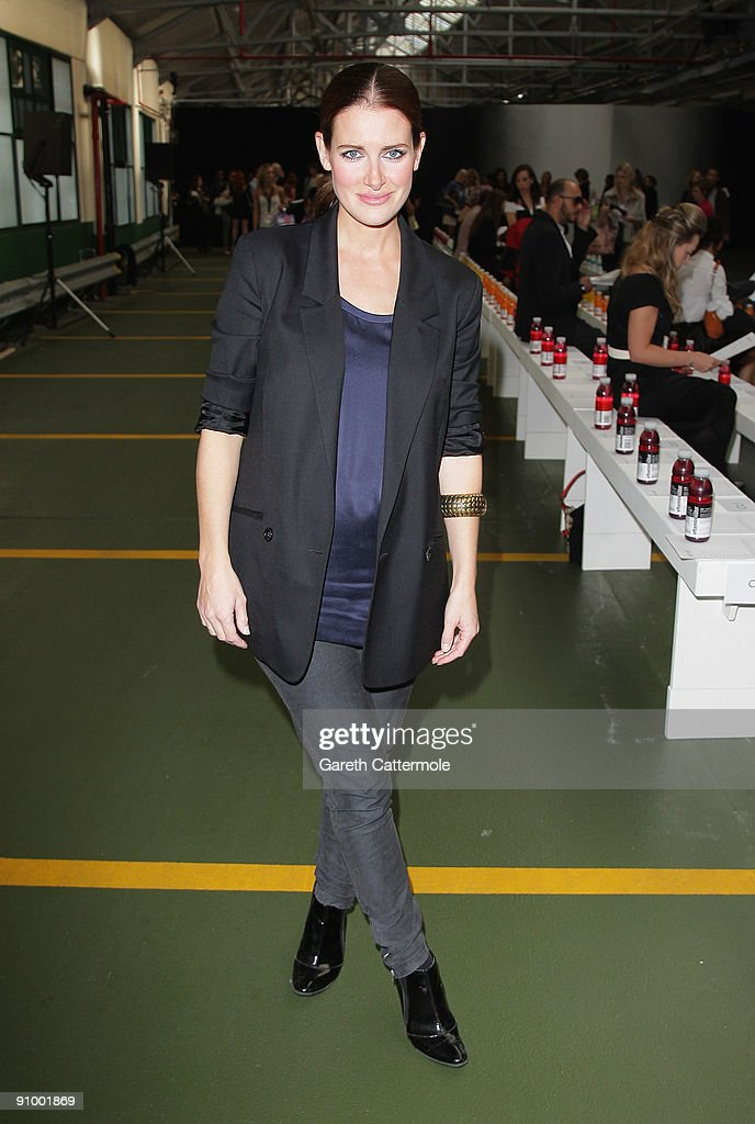 Kirsty Gallacher attends the Josh Goot Fashion Show during London Fashion Week Spring/Summer 2010 on September 21 2009 in London England