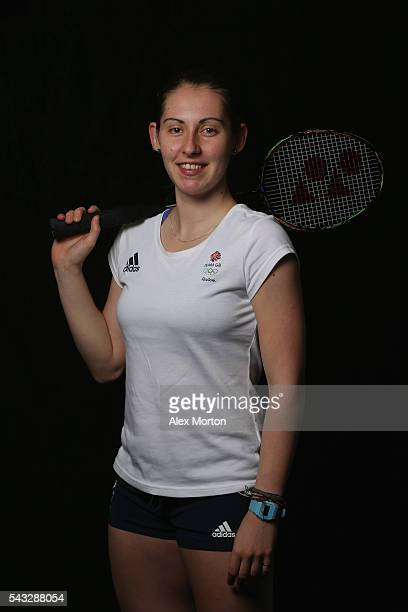 Kirsty Gilmour of Team GB during the Announcement of Badminton Athletes Named in Team GB for the Rio 2016 Olympic Games at the National Badminton...